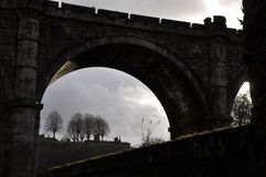 Castle bridge silhouette England Stock Images