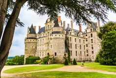 Castle Brissac στην κοιλάδα της Loire στη Γαλλία Στοκ Φωτογραφίες