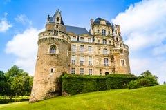 Castle Brissac στην κοιλάδα της Loire στη Γαλλία Στοκ Φωτογραφία