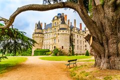 Castle of Brissac on the Loire Valley in France