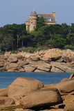 Castle in Brittany. 2005 autumn on Rose granite coast Royalty Free Stock Photo