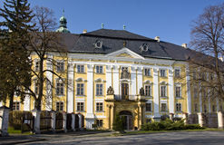Castle in Bruntal (Czech Republic). With park around Royalty Free Stock Photos
