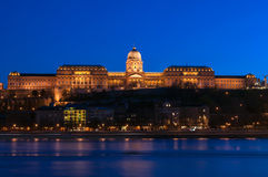 Castle of Buda in Budapes. Castle of Buda by night in Budapest, Hungary Royalty Free Stock Photography