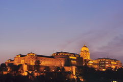 Castle of Budapest. At night Stock Photography
