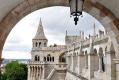 Castle Budapest. Fisherman´s Bastion,Buda castle in Budapest stock image