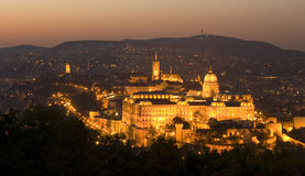 CASTLE IN BUDAPEST Stock Image