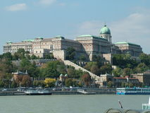 The Castle in Budapest in Hungary Stock Image