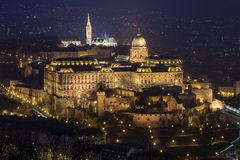 Castle of Budapest. In Hungary Royalty Free Stock Images