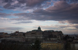 Castle in Budapest Hungary. Castle in Buda, Budapest the capital of Hungary Royalty Free Stock Images