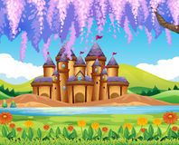 Castle building by the lake Royalty Free Stock Image