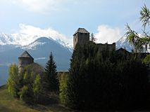 Castle Burg  in  Austria Royalty Free Stock Photo