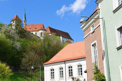 Castle Burghausen and Old City of Burghausen, Germ Royalty Free Stock Photo
