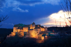 Castle from Burghausen  on sunset Stock Photography