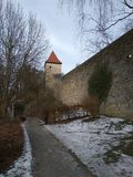Castle Burghausen wall Royalty Free Stock Photography