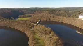 The Castle Burgk in Germany aerial view stock video