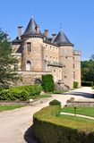 Castle in Burgundy (France) Royalty Free Stock Photos