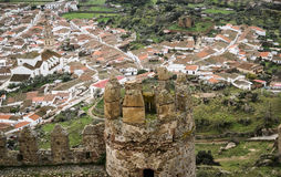 Castle at Burqillos del Serro, Estremadura, Spain Stock Photo