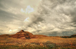 Castle Butte in Big Muddy Valley Royalty Free Stock Photo