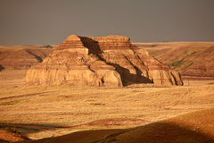 Castle Butte in Big Muddy Valley Stock Photos