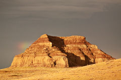 Castle Butte in Big Muddy Valley Royalty Free Stock Image