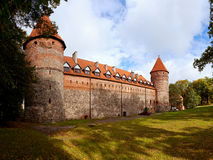Castle in Bytow, Poland. Teutonic castle at the turn of the XIV and XV centuries in Bytow, Poland Royalty Free Stock Image