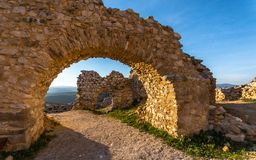 The castle of Elisabeth Bathory, Cachtice, Slovakia royalty free stock image