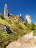 The Castle of Cachtice - Ruined fortification Stock Photo