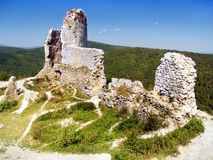 The Castle of Cachtice - Ruins stock images