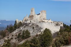 Castle Cachtice stock image