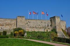 Castle of Caen in Normandie Stock Photos