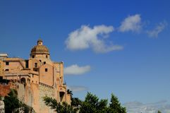 Cagliari. The castle of Cagliari in the south of Sardinia Royalty Free Stock Image