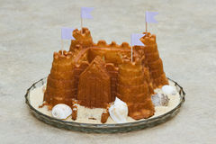 Castle cake Stock Images