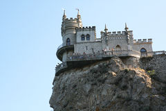 Castle called Swallow's nest in Crimea Black sea Royalty Free Stock Photo
