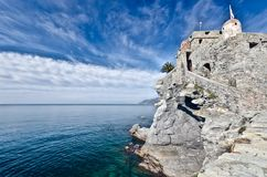 Castle of Camogli, Italy Royalty Free Stock Photography