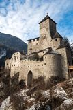 Castle of campo tures. Castle on the alps in campo tures stock photo