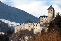 Castle of campo tures. Castle on the alps in campo tures stock photography