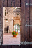 Castle of Campobasso, particular door Royalty Free Stock Photo