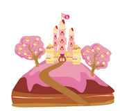 Castle with candy Royalty Free Stock Photo