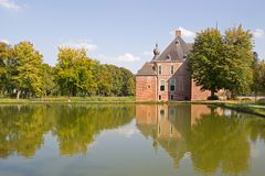 The Castle Cannenburgh with park pond Stock Photos