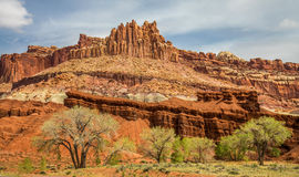 The Castle in Capitol Reef Stock Image