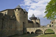 Castle of Carcassonne stock photo