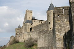 Castle of Carcassonne Royalty Free Stock Photo