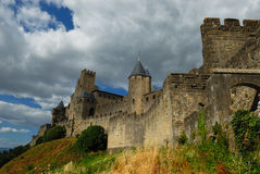 Castle at Carcassonne, France. Medieval fortified castel of Carcassonne, France Stock Photos
