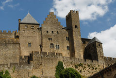 Castle at Carcassonne, France. Medieval fortified castel of Carcassonne, France Stock Photography