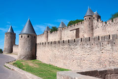 Castle Carcassonne, France. Castle Carcassonne in France, UNESCO Royalty Free Stock Photography