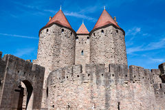 Castle Carcassonne, France. Castle Carcassonne in France, UNESCO Stock Images