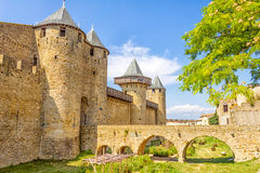 Castle in Carcassonne, France Stock Photos