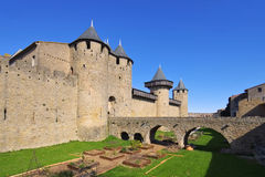 Castle of Carcassonne, France Royalty Free Stock Photos