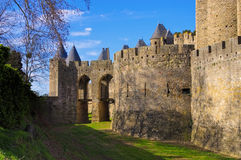 Castle of Carcassonne, France Royalty Free Stock Images