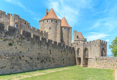Castle of Carcassonne, Languedoc Roussillon Royalty Free Stock Images
